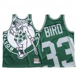Maglia Boston Celtics Larry Bird #33 Mitchell & Ness Big Face Verde