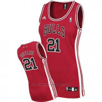 Maglia Donna Chicago Bulls Jimmy Butler #21 Rosso