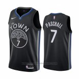 Maglia Golden State Warriors Eric Paschall #7 Citta Edition Nero