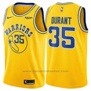 Maglia Golden State Warriors Kevin Durant #35 Hardwood Classic 2018 Giallo