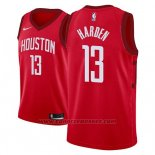 Maglia Houston Rockets James Harden Earned #13 2018-19 Rosso