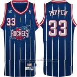 Maglia Houston Rockets Scottie Pippen #33 Retro Blu
