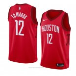 Maglia Houston Rockets Vincent Edwards #12 Earned 2018-19 Rosso
