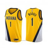 Maglia Indiana Pacers T.j. Warren #1 Statement 2019-20 Giallo