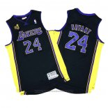 Maglia Los Angeles Lakers Kobe Bryant #24 2009-10 Finals Nero