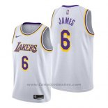 Maglia Los Angeles Lakers Lebron James #6 Association 2019-20 Bianco
