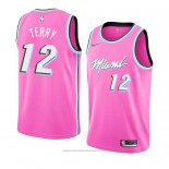 Maglia Miami Heat Heat Emanuel Terry #12 Earned 2018-19 Rosa