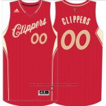 Maglia Natale 2015 Los Angeles Clippers Adidas Personalizzate Rosso