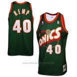 Maglia Seattle SuperSonics Shawn Kemp #40 Historic Retro Verde