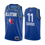 Maglia All Star 2020 Indiana Pacers Domantas Sabonis #11 Blu