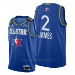 Maglia All Star 2020 Los Angeles Lakers Lebron James #2 Blu