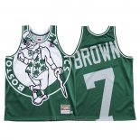 Maglia Boston Celtics Jaylen Brown #7 Mitchell & Ness Big Face Verde