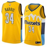 Maglia Denver Nuggets Devin Harris #34 Statement 2018 Giallo