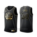 Maglia Golden Edition Golden State Warriors Stephen Curry Nero