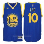 Maglia Golden State Warriors David Lee #10 Blu