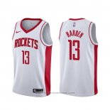 Maglia Houston Rockets James Harden #13 Association Bianco