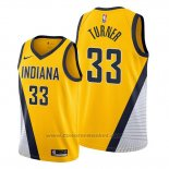 Maglia Indiana Pacers Myles Turner #33 Statement Edition Giallo