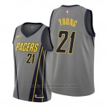 Maglia Indiana Pacers Thaddeus Young #21 Citta Edition Grigio