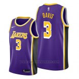Maglia Los Angeles Lakers Anthony Davis #3 Statement 2019 Viola