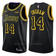 Maglia Los Angeles Lakers Brandon Ingram #14 Citta 2018 Nero