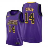 Maglia Los Angeles Lakers Danny Green #14 Citta Viola