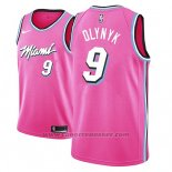 Maglia Miami Heat Kelly Olynyk #9 Earned 2018-19 Rosa