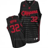 Maglia Scanalatura Moda Los Angeles Clippers Blake Griffin #23 Nero