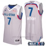 Maglia All Star 2017 New York Knicks Carmelo Anthony #7 Grigio