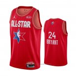 Maglia All Star 2020 Los Angeles Lakers Kobe Bryant #24 Rosso