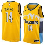 Maglia Denver Nuggets Gary Harris #14 Statement 2018 Giallo