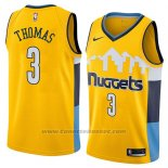 Maglia Denver Nuggets Isaiah Thomas #3 Statement 2018 Giallo