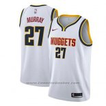 Maglia Denver Nuggets Jamal Murray #27 Association 2018-19 Bianco