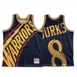 Maglia Golden State Warriors Alec Burks #8 Mitchell & Ness Big Face Blu