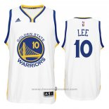 Maglia Golden State Warriors David Lee #10 Bianco