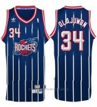 Maglia Houston Rockets Hakeem Olajuwon #34 Retro Blu
