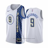 Maglia Indiana Pacers T.j. Mcconnell #9 Citta Bianco