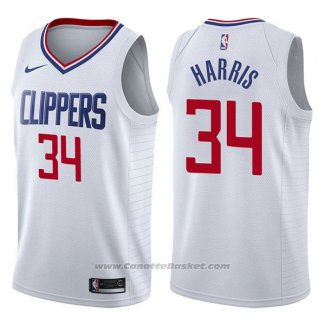 Maglia Los Angeles Clippers Tobias Harris #34 Association 2017-18 Bianco