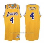 Maglia Los Angeles Lakers Byron Scott #4 Retro Giallo