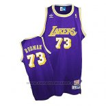 Maglia Los Angeles Lakers Dennis Rodman Retro Viola