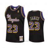 Maglia Los Angeles Lakers Lebron James #23 Reload Hardwood Classics 2020 Nero