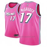 Maglia Miami Heat Rodney Mcgruder #17 Earned 2018-19 Rosa