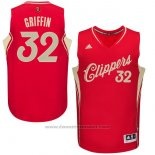 Maglia Natale 2015 Los Angeles Clippers Blake Griffin #32 Rosso