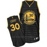 Maglia Scanalatura Moda Golden State Warriors Stephen Curry #30 Nero