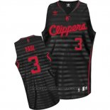 Maglia Scanalatura Moda Los Angeles Clippers Chris Paul #3 Nero
