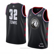 Maglia All Star 2019 Minnesota Timberwolves Karl Anthony Towns #32 Nero