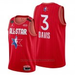 Maglia All Star 2020 Los Angeles Lakers Anthony Davis #3 Rosso