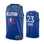 Maglia All Star 2020 Los Angeles Lakers LeBron James #23 Blu