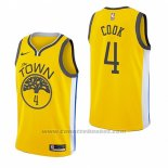 Maglia Golden State Warriors Quinn Cook #4 Earned 2018-19 Giallo