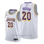 Maglia Los Angeles Lakers Andre Ingram #20 Association Bianco