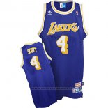 Maglia Los Angeles Lakers Byron Scott #4 Retro Blu